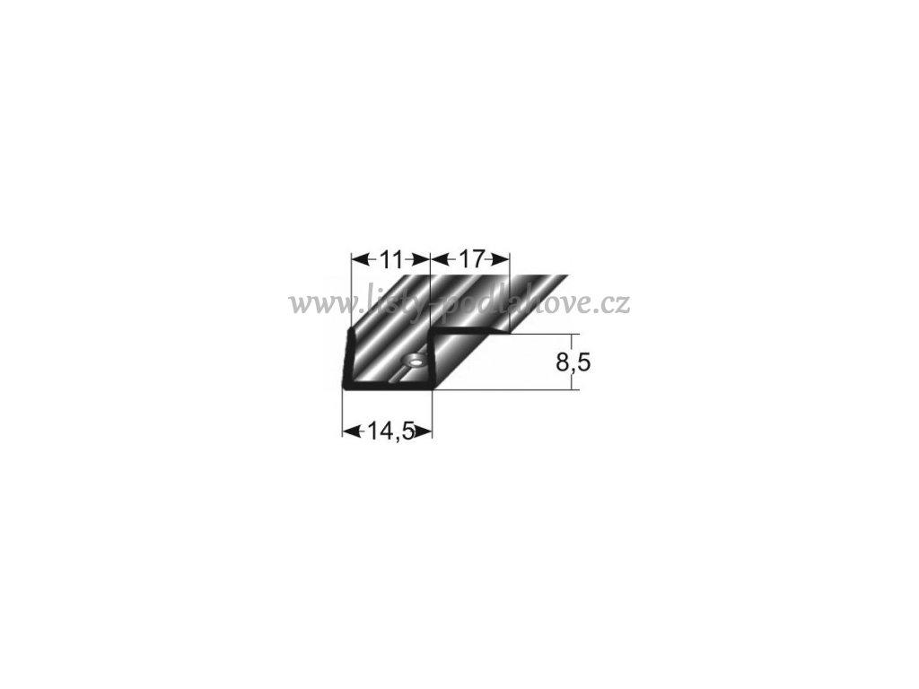 Základní profil jednostranný  28 x 8,5 mm