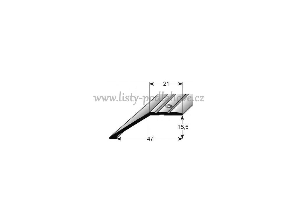 Ukončovací profil  47 x 15,5 mm, šroubovací
