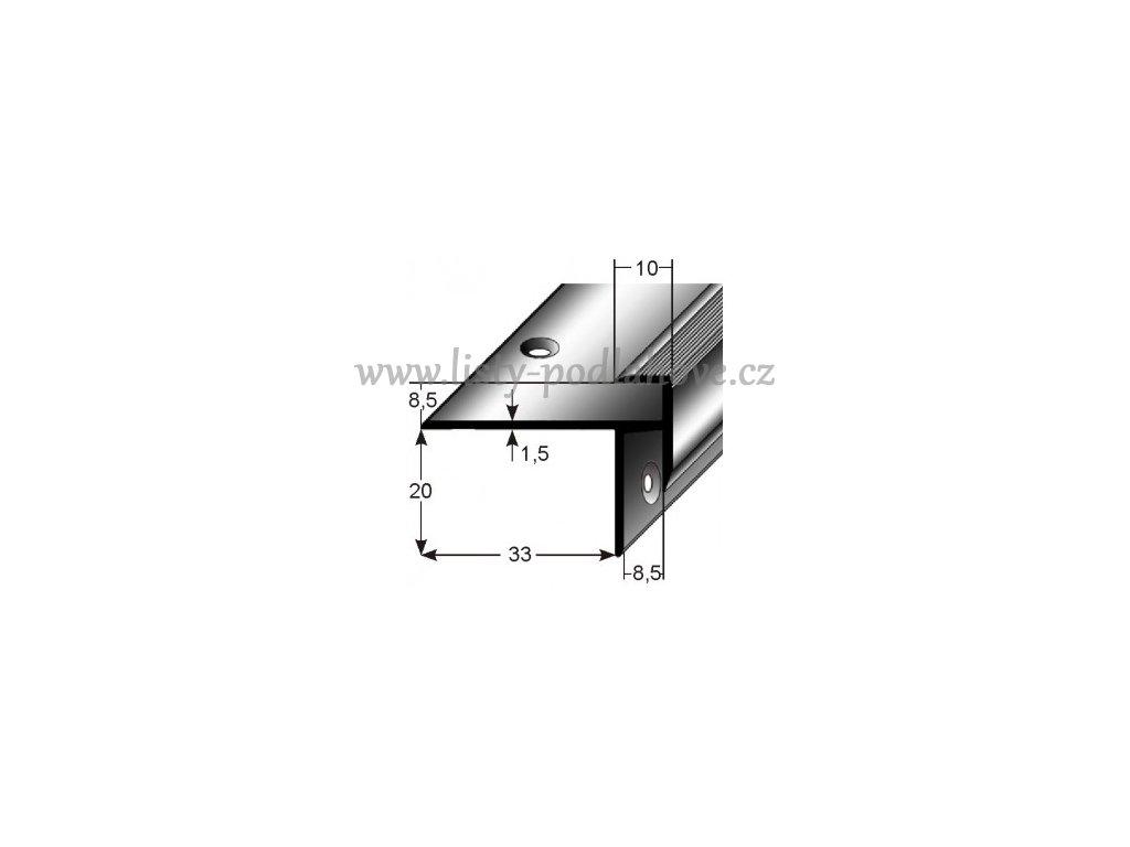 Schodový profil  pro laminát  8,5 mm