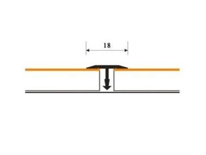 Spárovací profil T 18 mm ruční tvarování | Dub - Doprodej