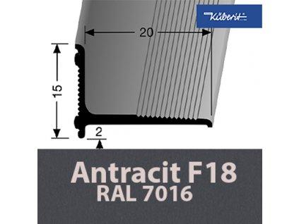 Küberit 369/SK, Stěnová ukončovací lišta, 20 x 15 mm, 270cm