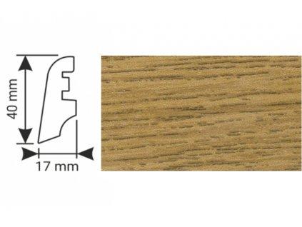 K-Produkt lišta KP40 3187 Dub D