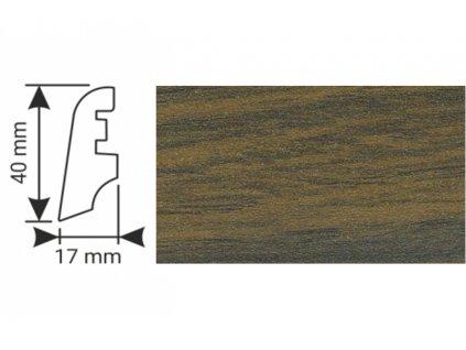 K-Produkt lišta KP40 3123 Dub mořený