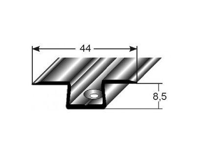 Základní profil oboustranný  44 x 8,5 mm,