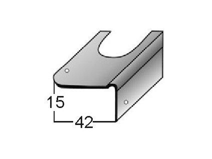 Opravný úhel H15 pro opravu schodů