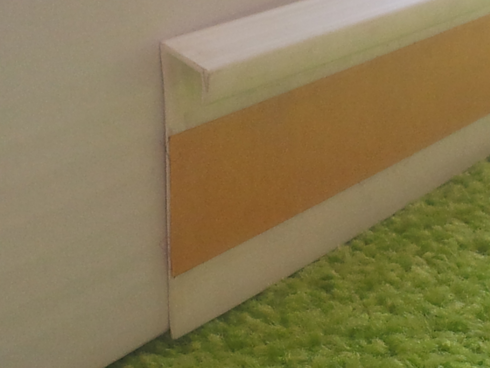 Kobercová lišta PVC - bílá (250 cm)