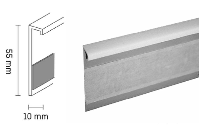 Kobercová lišta PVC TL55 | 117 bílá (250 cm)