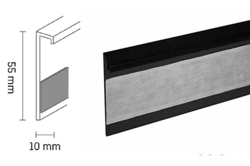 Kobercová lišta PVC TL55 | 110 černá (250 cm)