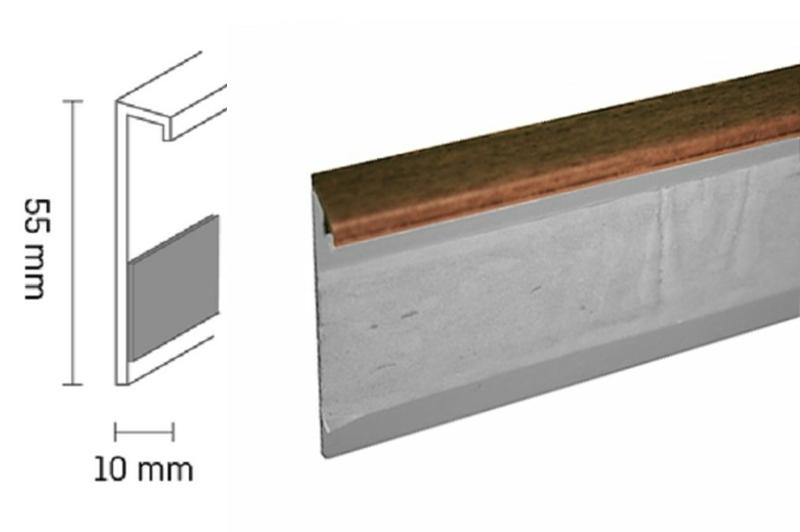 Kobercová lišta PVC TL55 | 22 ořech (250 cm)