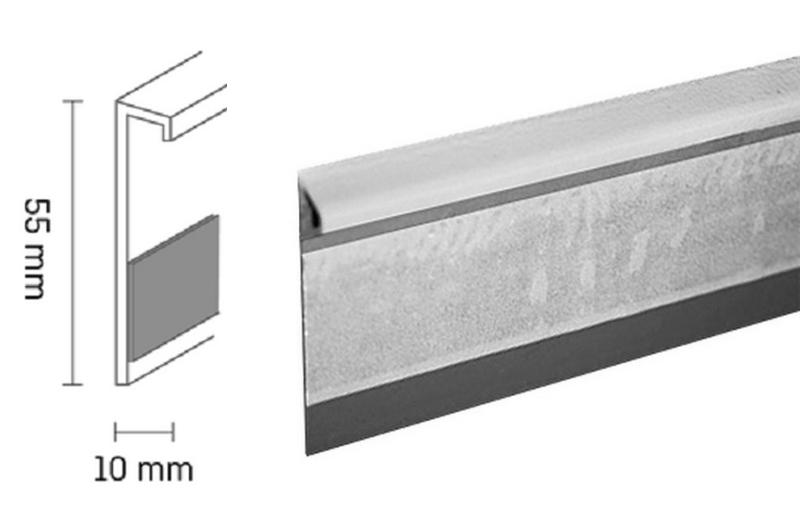 Kobercová lišta PVC TL55 | 138 světle hnědá (250 cm)