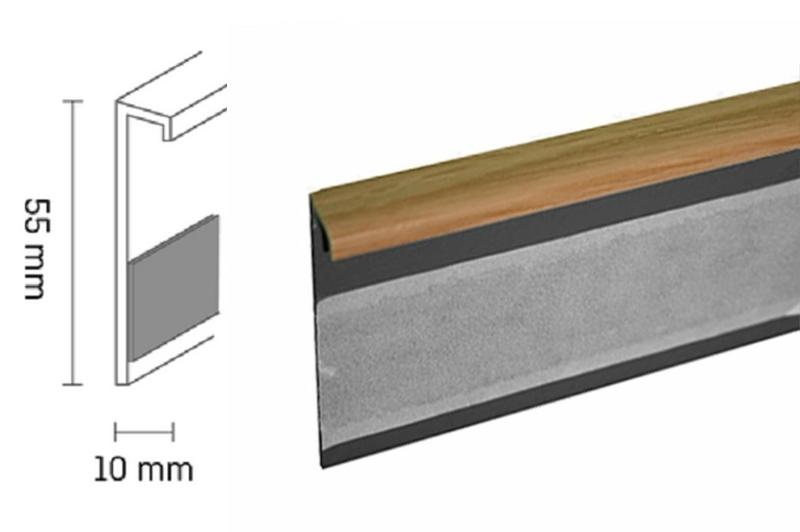 Kobercová lišta PVC TL55 | 33 ořech (250 cm)