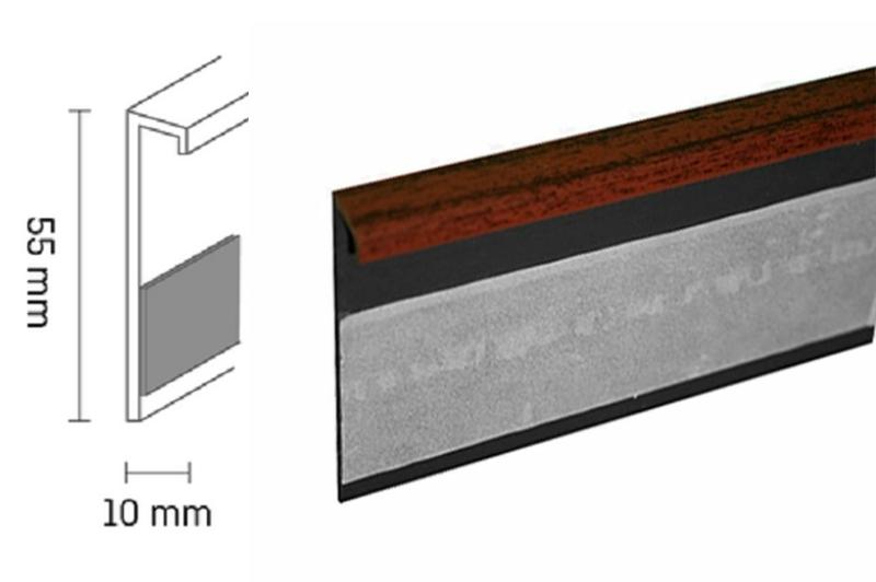 Kobercová lišta PVC TL55 | 54 mahagon (250 cm)