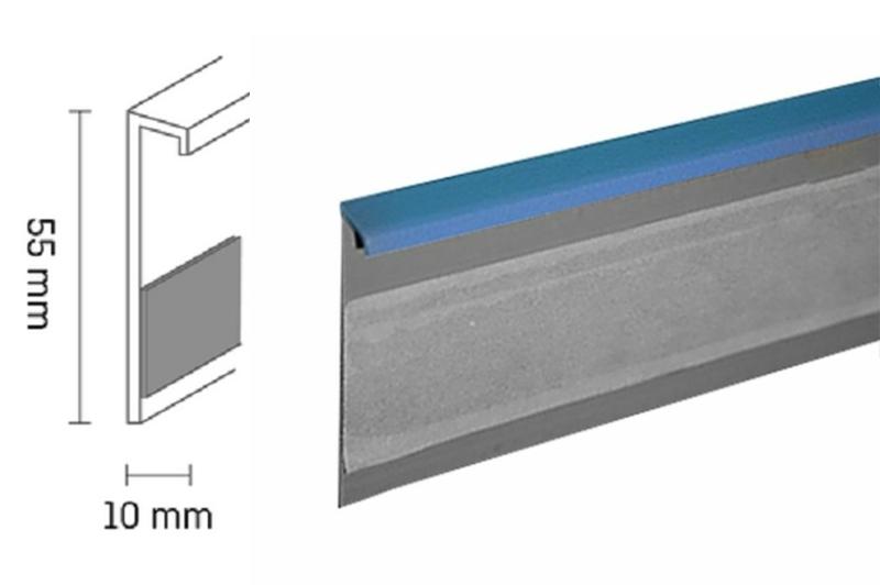 Kobercová lišta PVC TL55 | 55 modrá (250 cm)