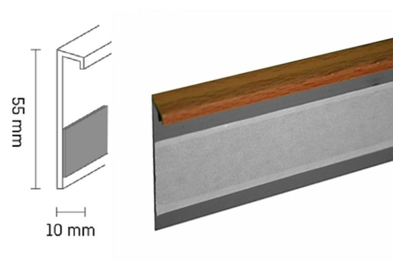 Kobercová lišta PVC TL55 | 57 buk (250 cm)