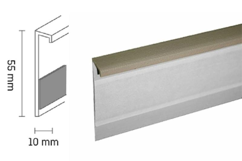 Kobercová lišta PVC TL55 | 214 béžová (250 cm)