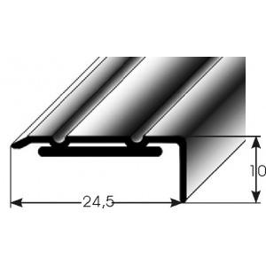 Schodový profil 10 x 24,5 mm, samolepící Barva dekoru: světlý bronz AUER, Délka lišty: 100 cm