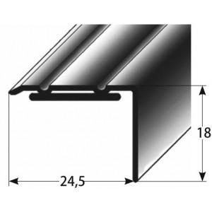Schodový profil 18 x 24,5 mm, samolepící Barva dekoru: světlý bronz AUER, Délka lišty: 100 cm