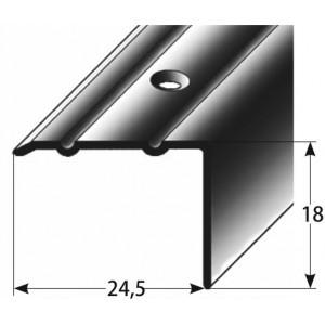 Schodový profil 18 x 24,5 mm, šroubovací Barva dekoru: světlý bronz AUER, Délka lišty: 100 cm