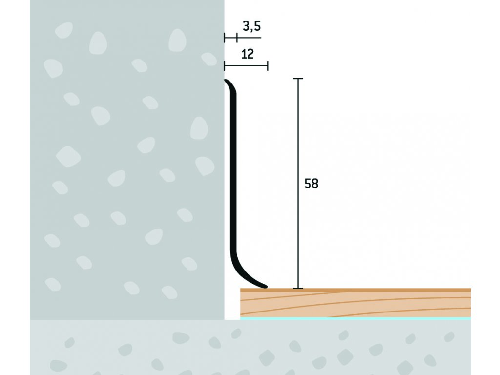 Soklový profil 58x12