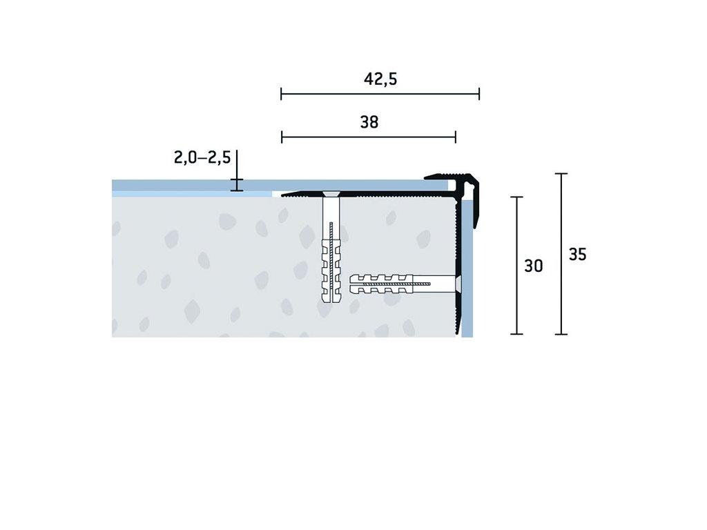 SP 42,5x35x2 2,5 V 1
