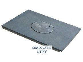 Plát kamnový široký s jedním otvorem typ 30.160