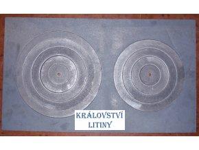 Plát kamnový velký se dvěma otvory typ 45.290