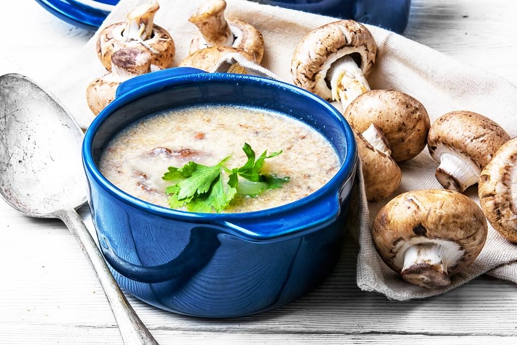 Houbová polévka Svampsoppa