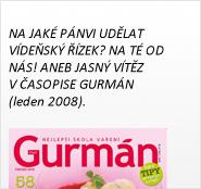 Vítěz v časopise Gurmán