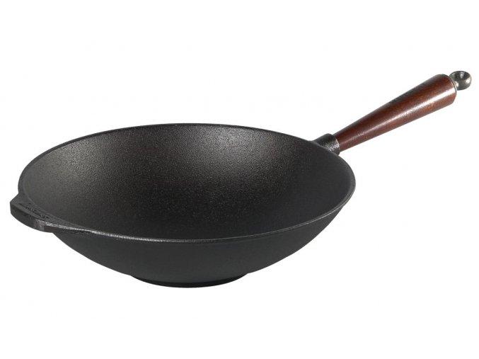 Litinová pánev Wok 30cm - SLEVA