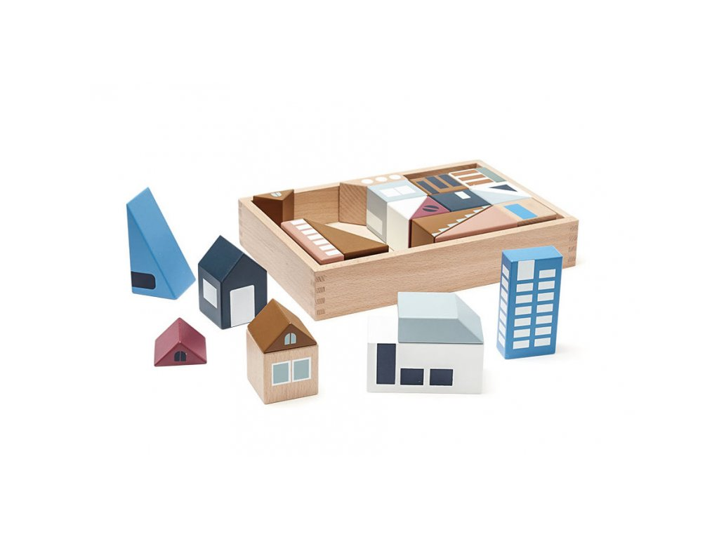 Kids Concept Kostky město Aiden dřevěné