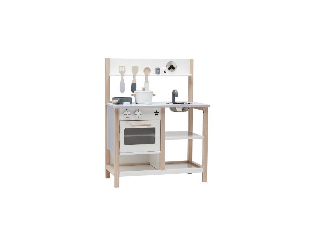 Kids Concept Kuchyňka dřevěná Natural White Bistro
