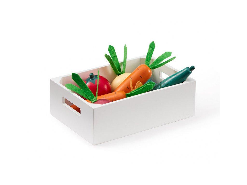 Kids Concept Zelenina v bedýnce dřevěná Bistro