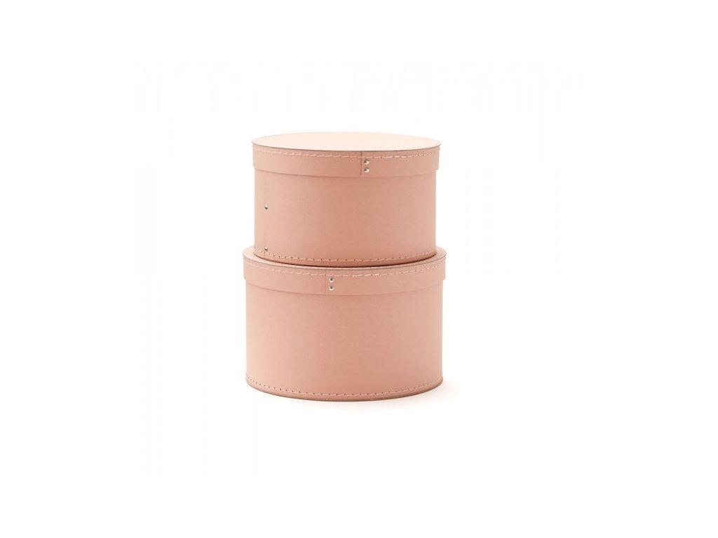 Kids Concept Krabice kulatá 2 ks Pink