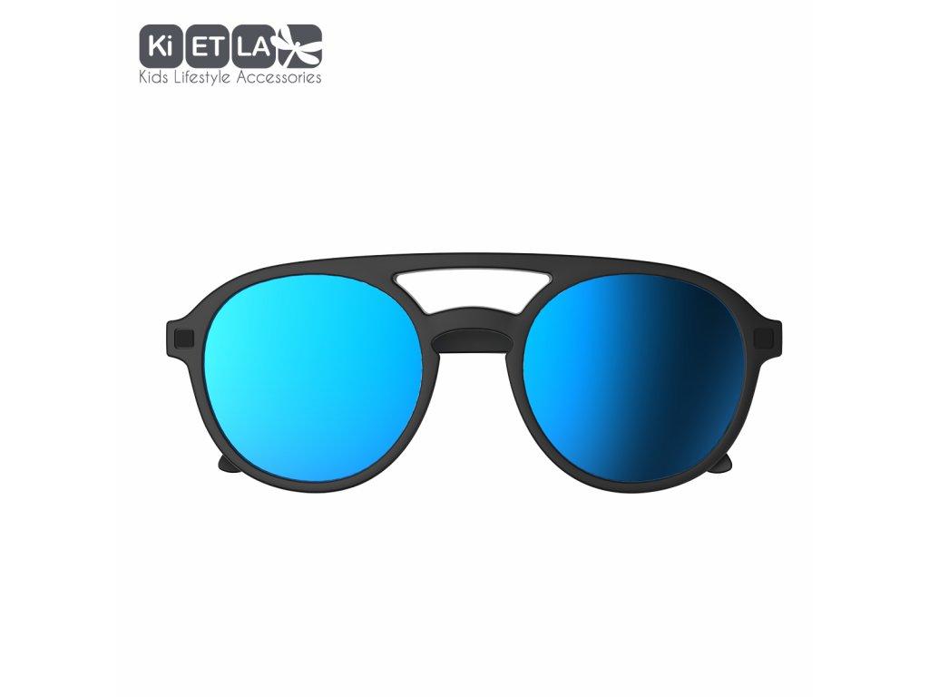 Sluneční brýle KiETLA CraZyg-Zag 6-9 let PiZZ černé zrcadlovky