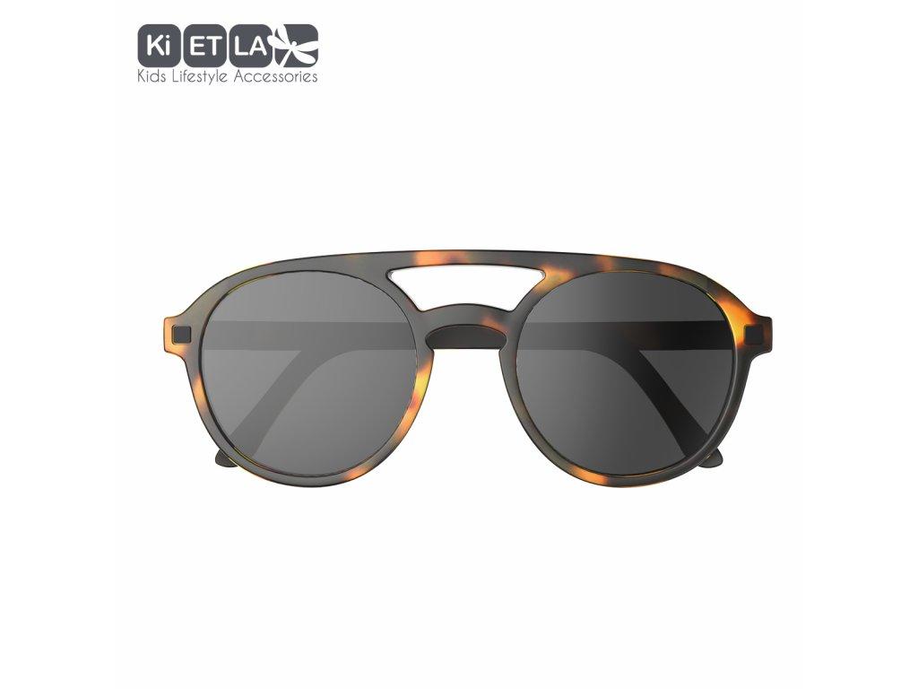 Sluneční brýle KiETLA CraZyg-Zag 6-9 let PiZZ hnědé