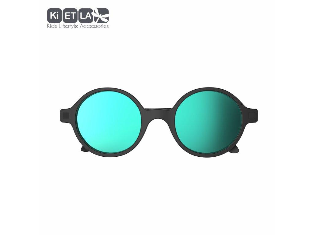 Sluneční brýle KiETLA CraZyg-Zag 6-9 let Rozz černé zrcadlovky