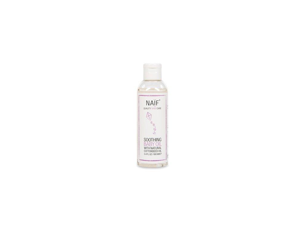Přírodní zklidňující masážní olej Naif pro děti a miminka