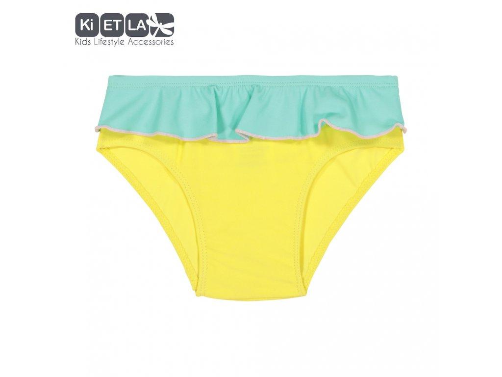 KiETLA plavkové kalhotky s UV ochranou 3-4 roky žluto-zelené