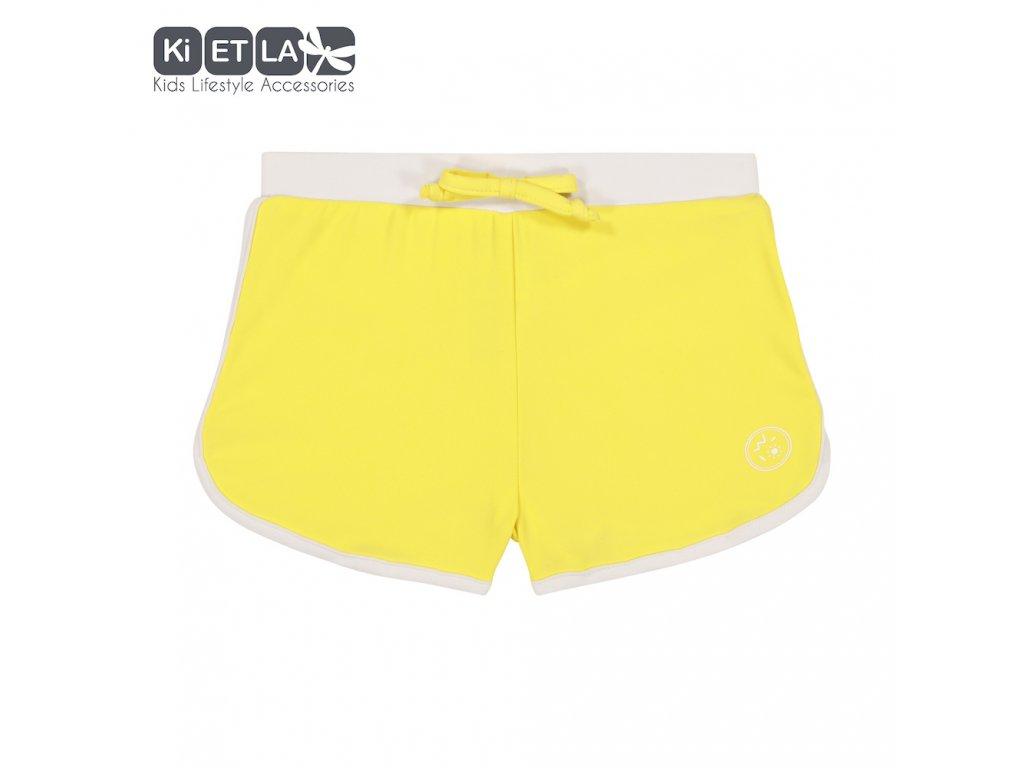 KiETLA plavkové šortky s UV ochranou 3-4 roky žluté