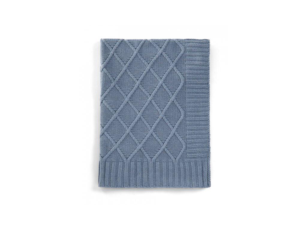 Mamas & Papas Pletená deka modrý denim