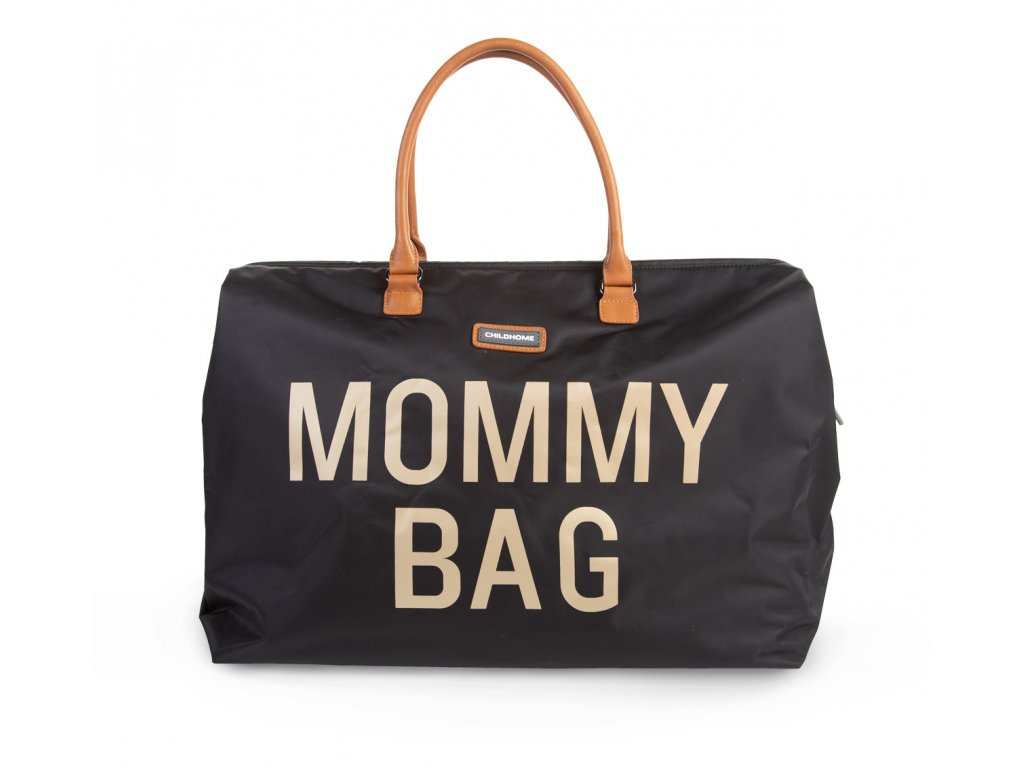 Childhome Přebalovací taška Mommy Bag Big Black Gold