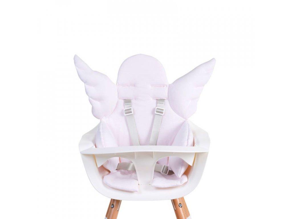 Childhome Sedací podložka do dětské židličky Angel Jersey Old Pink