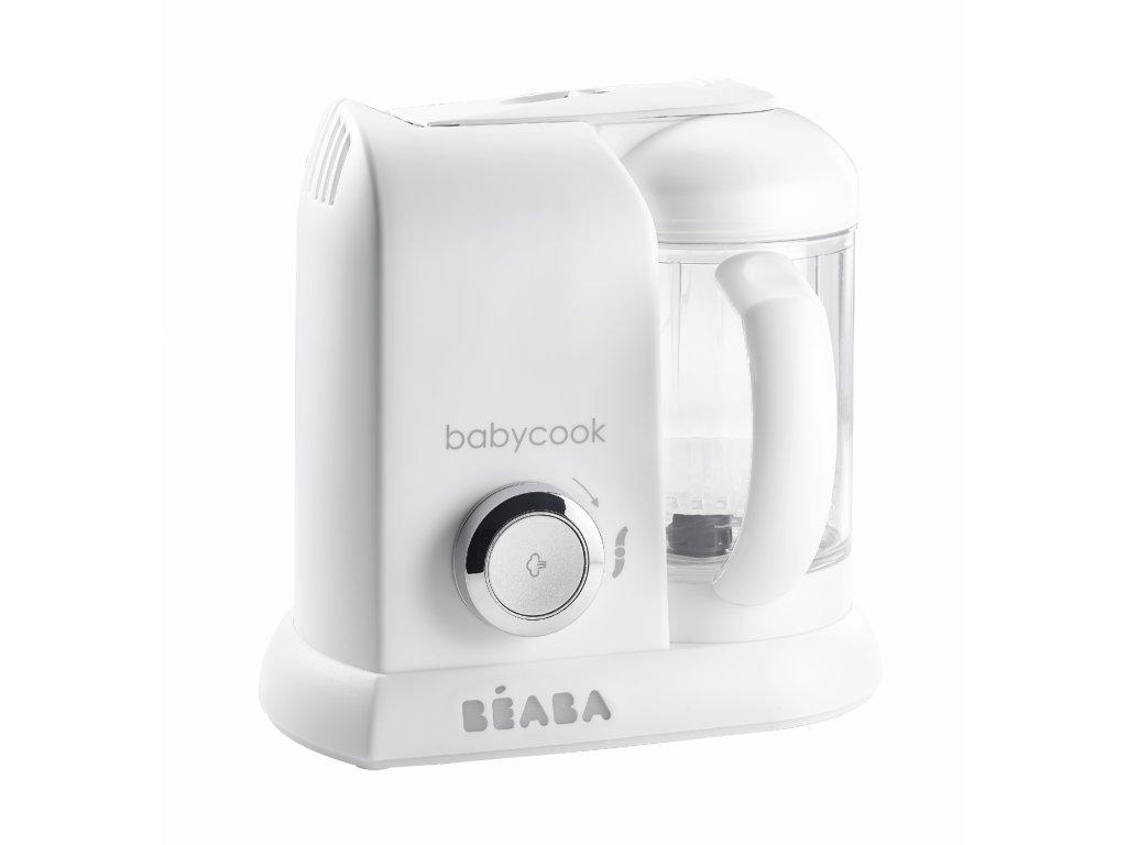 Beaba Parní vařič + mixér BABYCOOK White Silver