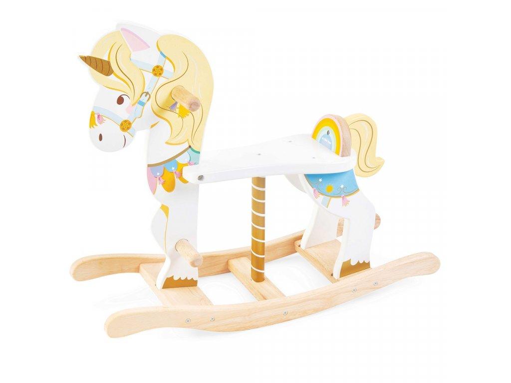 Le Toy Van Petilou Dřevěný houpací jednorožec