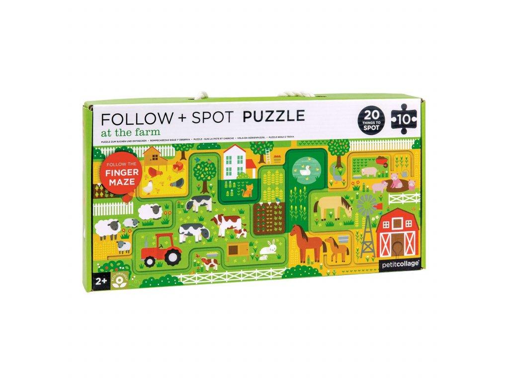 Petitcollage Bludiště a puzzle Farma
