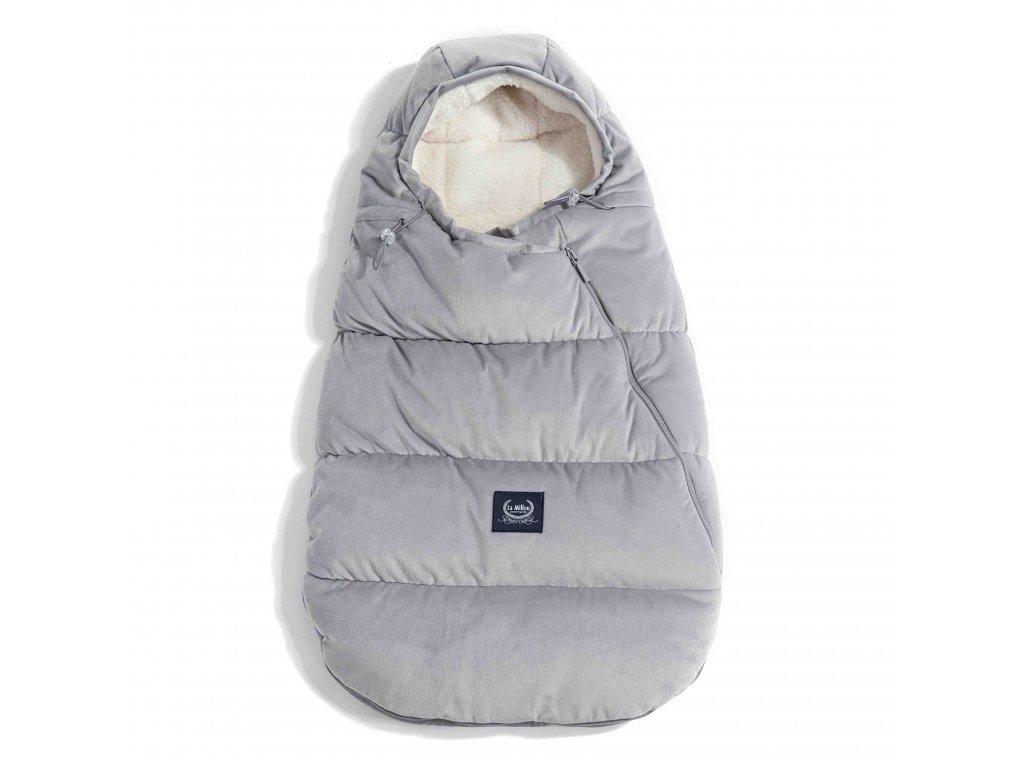 La Millou Luxusní fusak do kočárku Aspen Winterproof Dark grey Baby