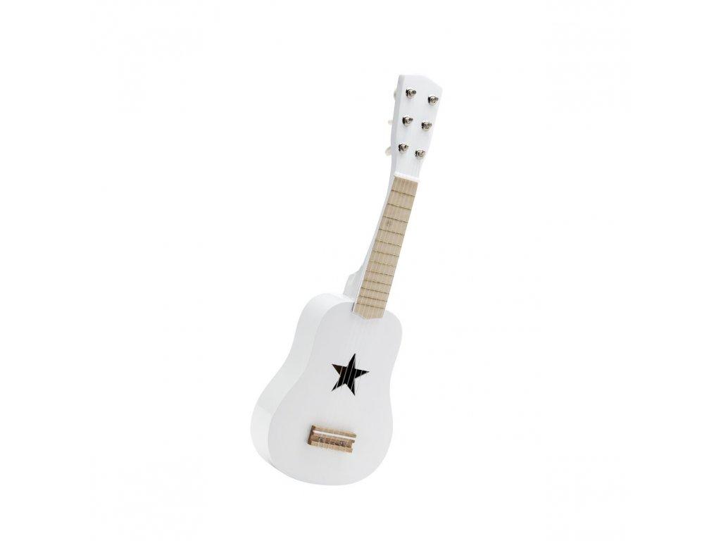 Kids Concept Kytara dřevěná bílá