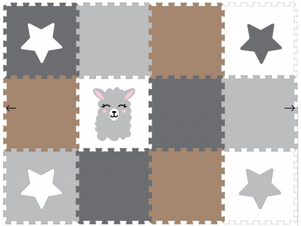 Screenshot 2020 05 21 Minideckfloor podlaha 12 dílů lama a hvězdička Pěnové hračky