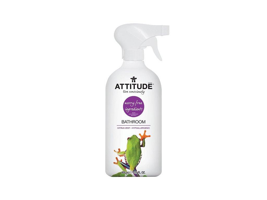 Čistící prostředek na koupelny ATTITUDE s vůní citronové kůry s rozprašovačem 800 ml