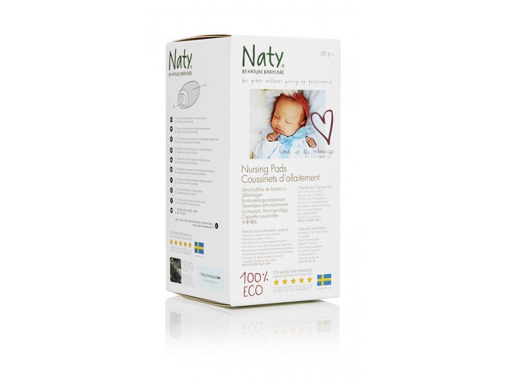 ECO prsní vložky pro kojící ženy Naty (30 ks)